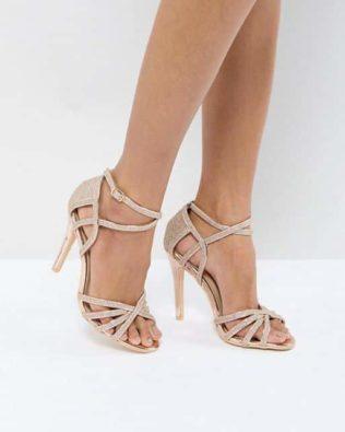 Metallic Heeled Sandal